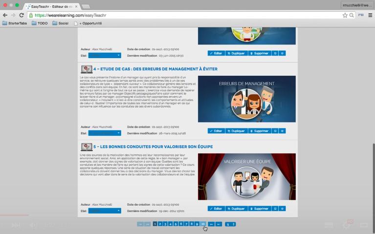 EasyteachR de We Are Learning : Base de savoir (tutoriels, démos), Base de savoir (tutoriels, démos), Carte de compétences