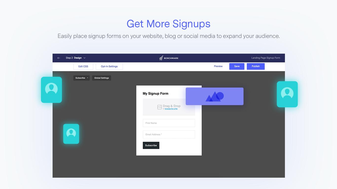 Benchmark Email - Obtenez plus d'inscriptions