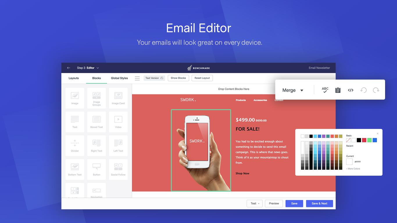 Benchmark Email - Vos emails auront fière allure