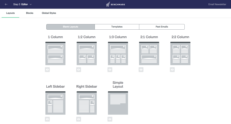 Benchmark Email - Mises en page de l'email