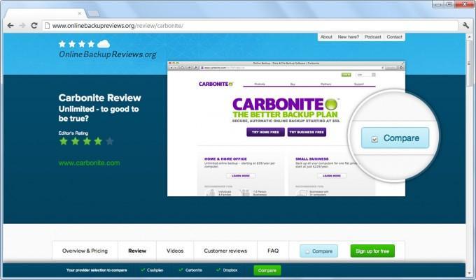 Carbonite: Sauvegarde vers un NAS, Sauvegarde vers un NAS, Sauvegarde Automatique
