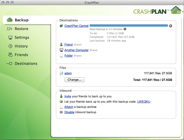 CrashPlan: Sauvegarde des serveurs, Sauvegarde vers un NAS, Sauvegarde Automatique