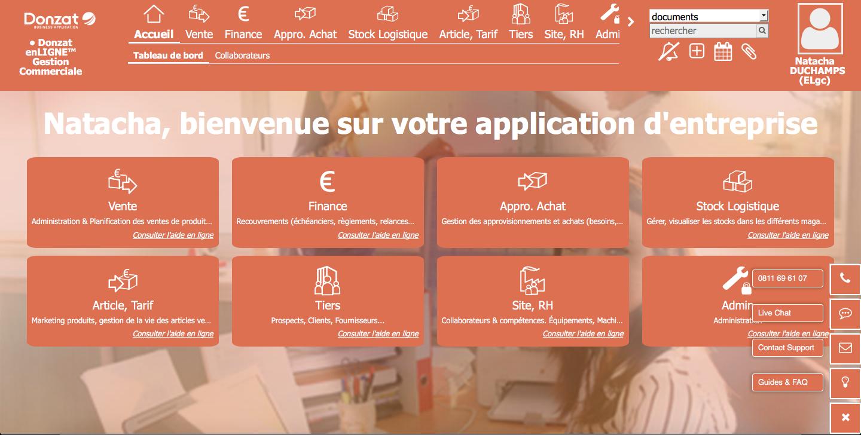 Donzat Gestion Commerciale: API, Web service, Rappel des retards de paiement, Visionneuse de documents