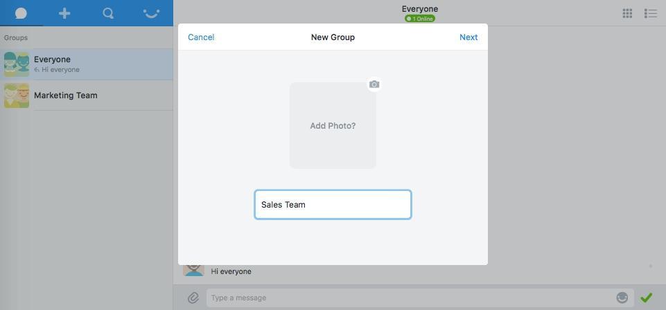 Pie: Standard d'encodage avancé (AES), Messagerie instantanée (Chat), Conversations et posts
