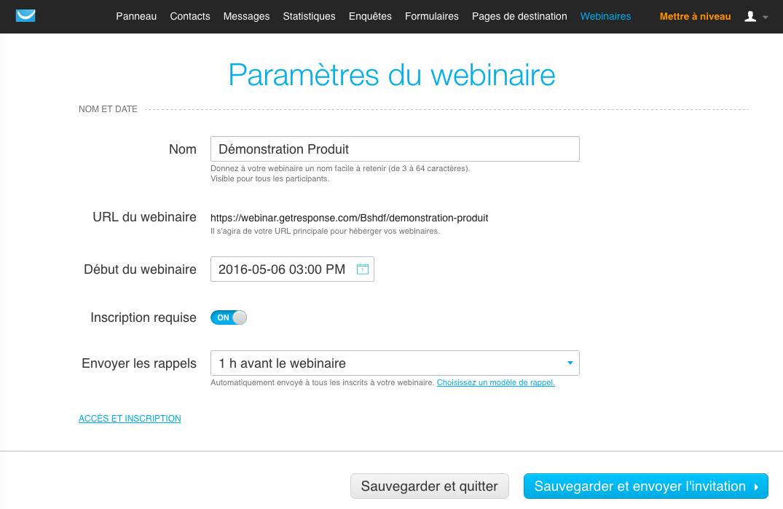 GetResponse: Base de savoir (tutoriels, démos), Hébergement de webinars, Gestion de campagnes