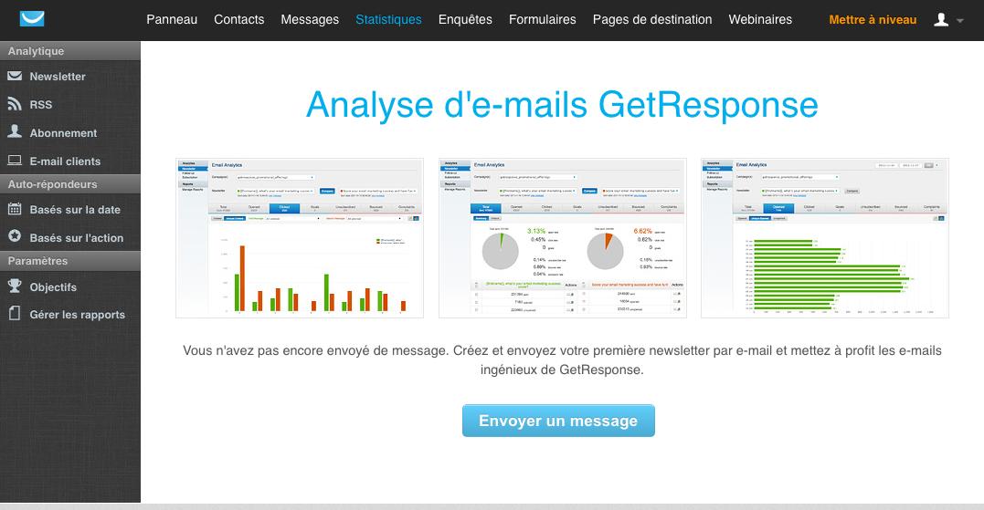 GetResponse: Import et export de données (CSV, XLS), Hébergement de webinars, Sondages