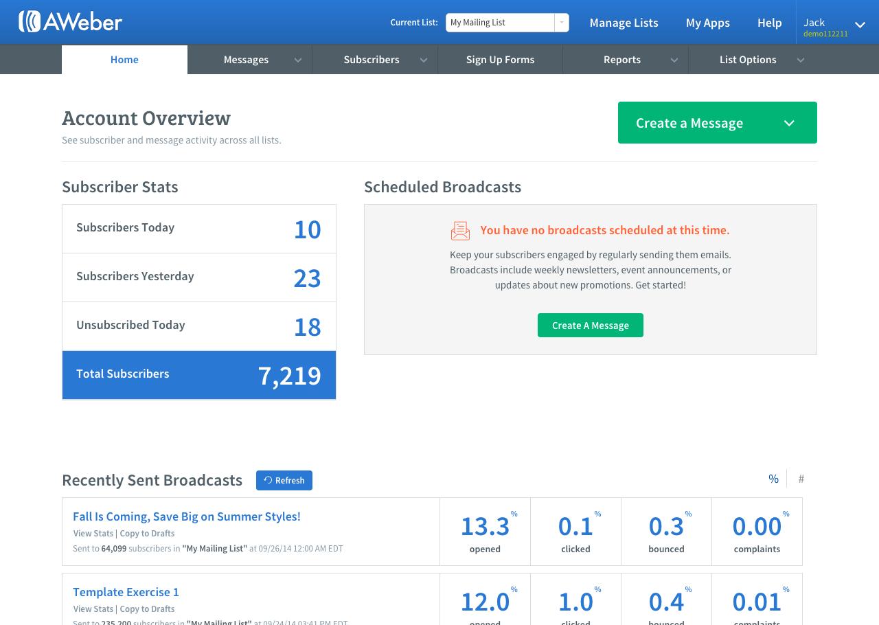 AWeber: Configuration du DKIM, Mailing de masse, Galerie de photos