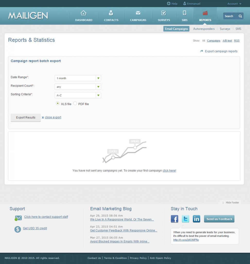 Mailigen: Création d'Emailings à partir de Flux RSS, Rapports post-campagne, Emails responsifs