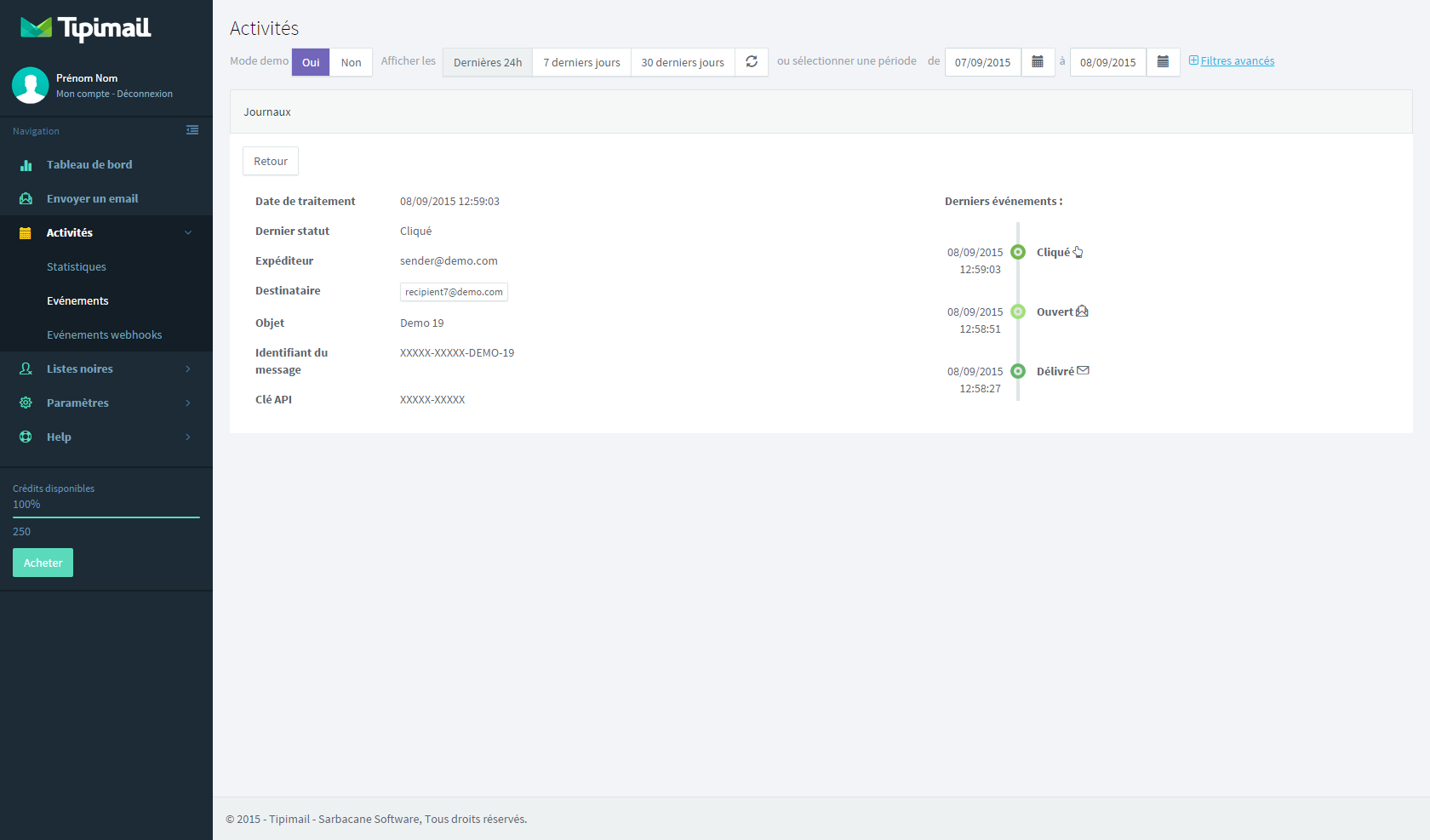 Tipimail: Gestion de campagnes, API, Web service, Emails transactionnels