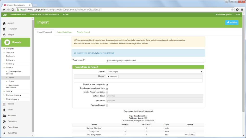 Compta.com: Factures personnalisées, Support (téléphone, email, ticket), Comptabilité analytique