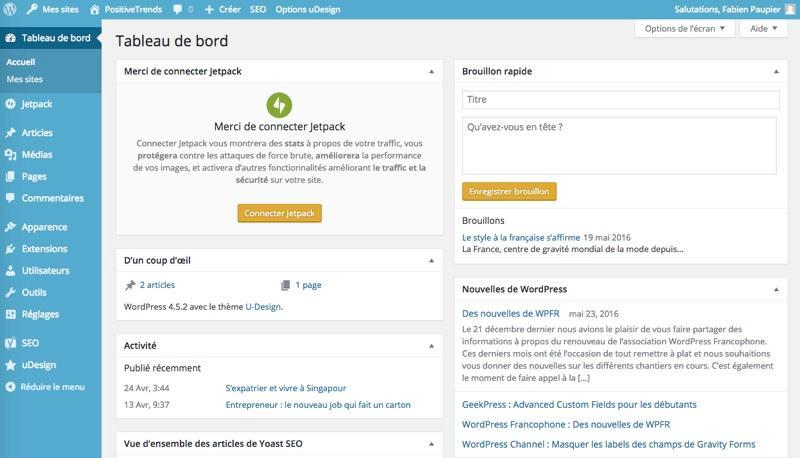 WordPress: Photos et vidéos, Modèles de sites web, Formulaire de contact