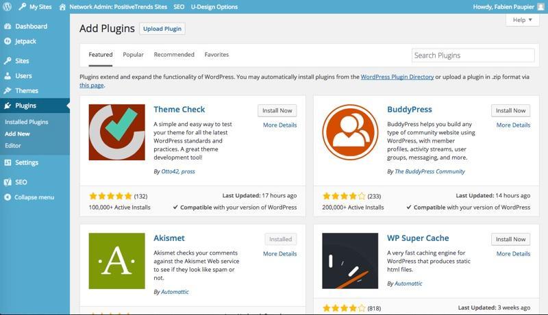 WordPress: Photos et vidéos, Formulaire de contact, Design Responsive