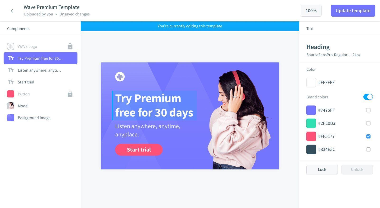 Avec Digital Brand Templates de Bynder, vous générez un grand nombre de bannières marketing pour tous vos canaux web en un clic.