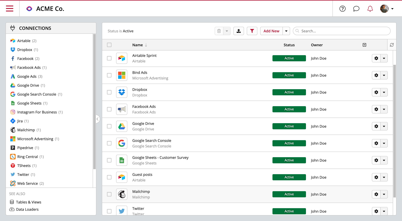 Connectez et centralisez toutes vos sources de données dans un data warehouse