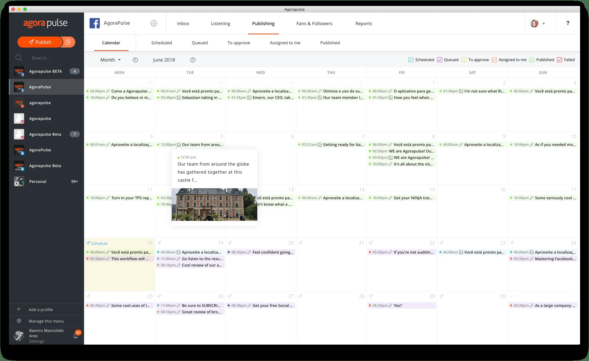 Votre calendrier de publication unifié