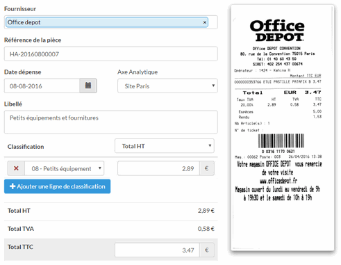 Automatisation des notes de frais et dépenses