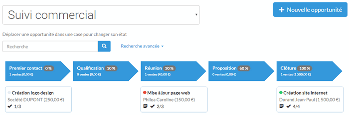 Outil de facturation avec module CRM simple