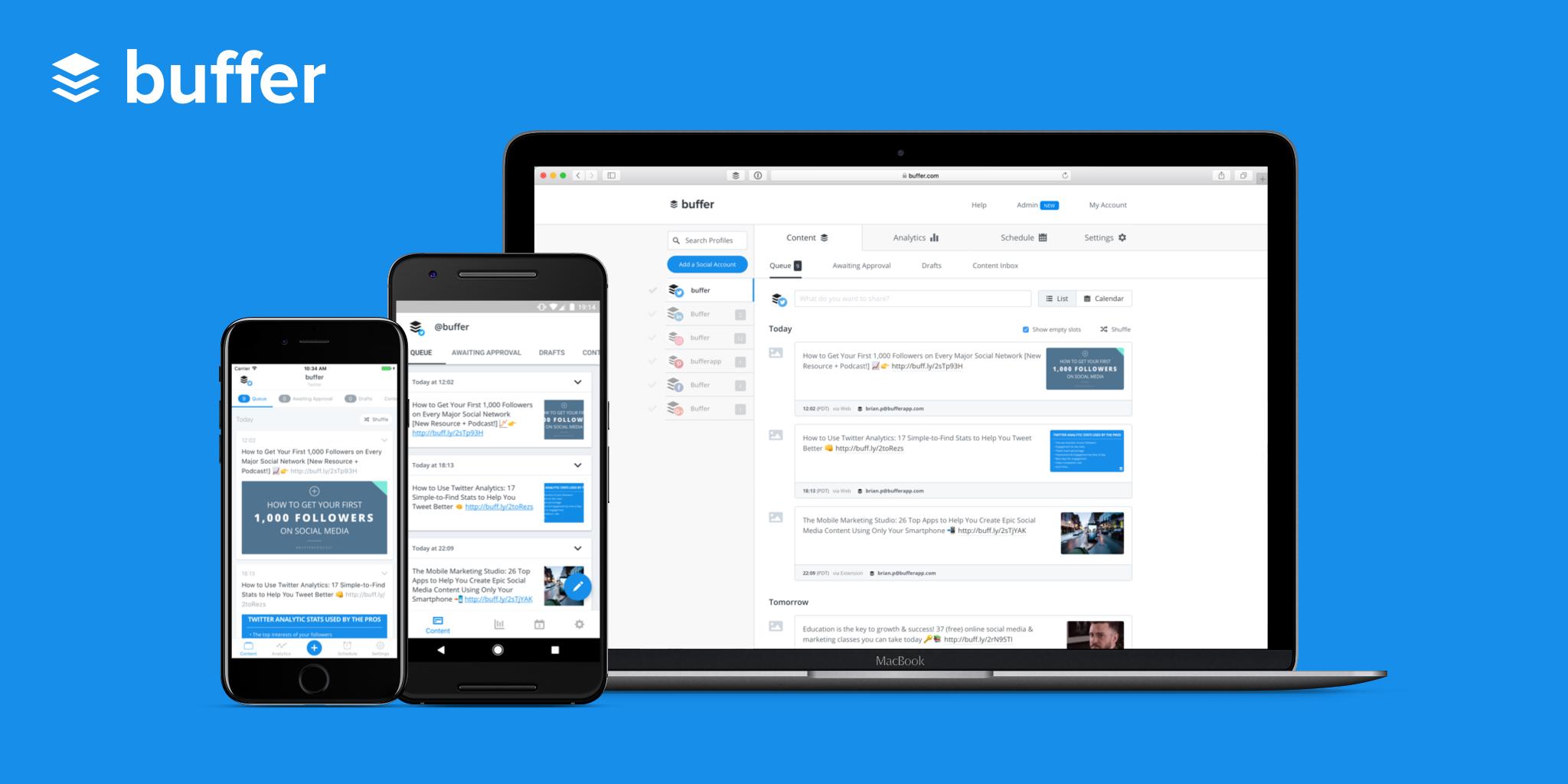 Avis Buffer : Gagnez du temps dans votre gestion des réseaux sociaux - Appvizer