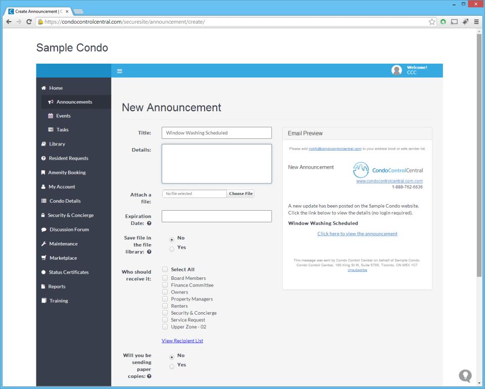 Condo Control Central-screenshot-0