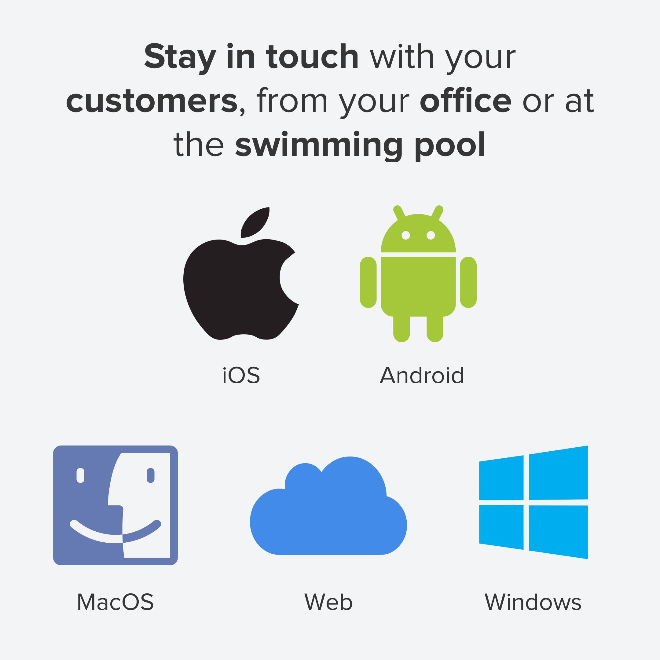 Applications Desktop et mobile disponibles