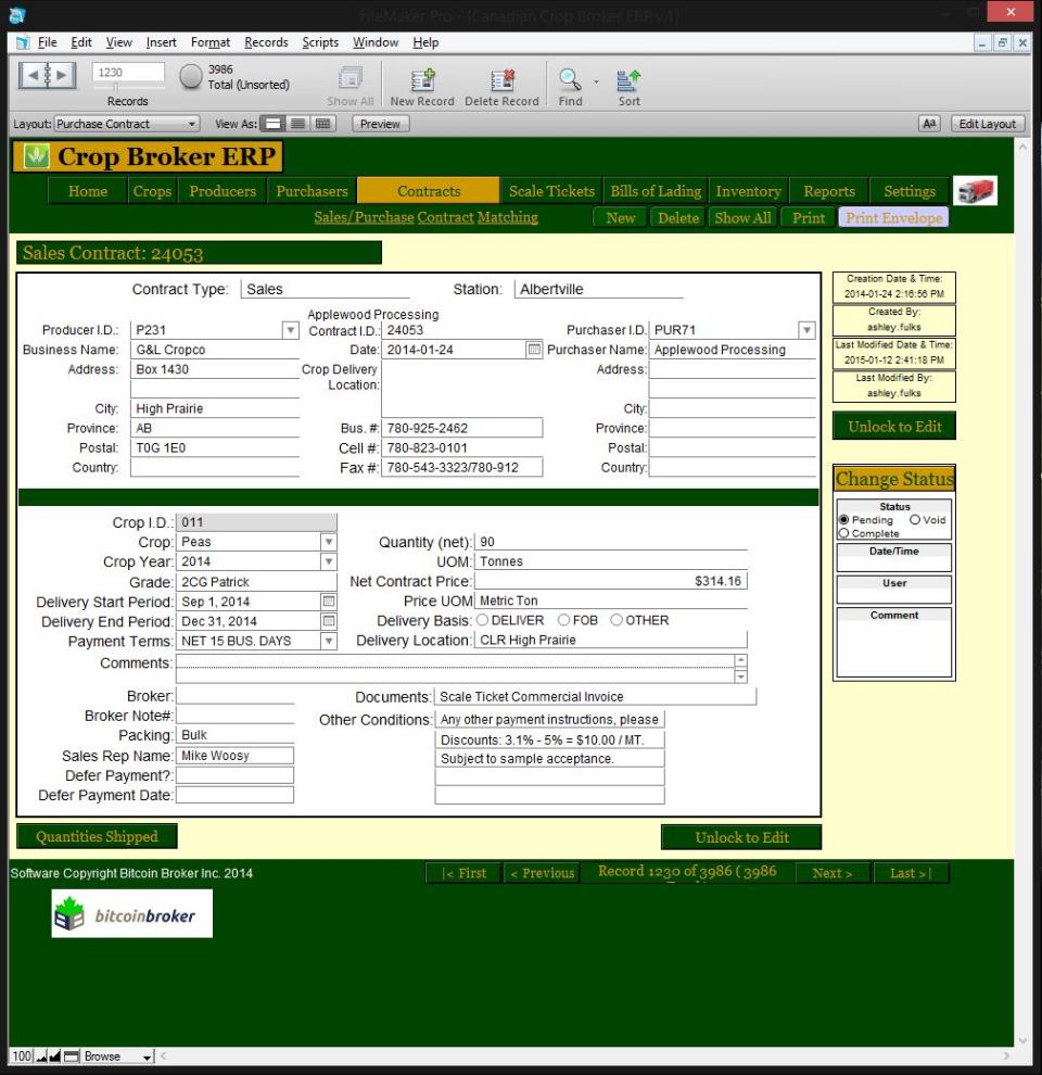 Crop Broker ERP-screenshot-0
