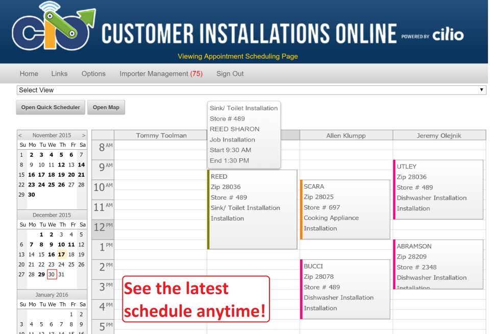 Customer Installations Online-screenshot-2