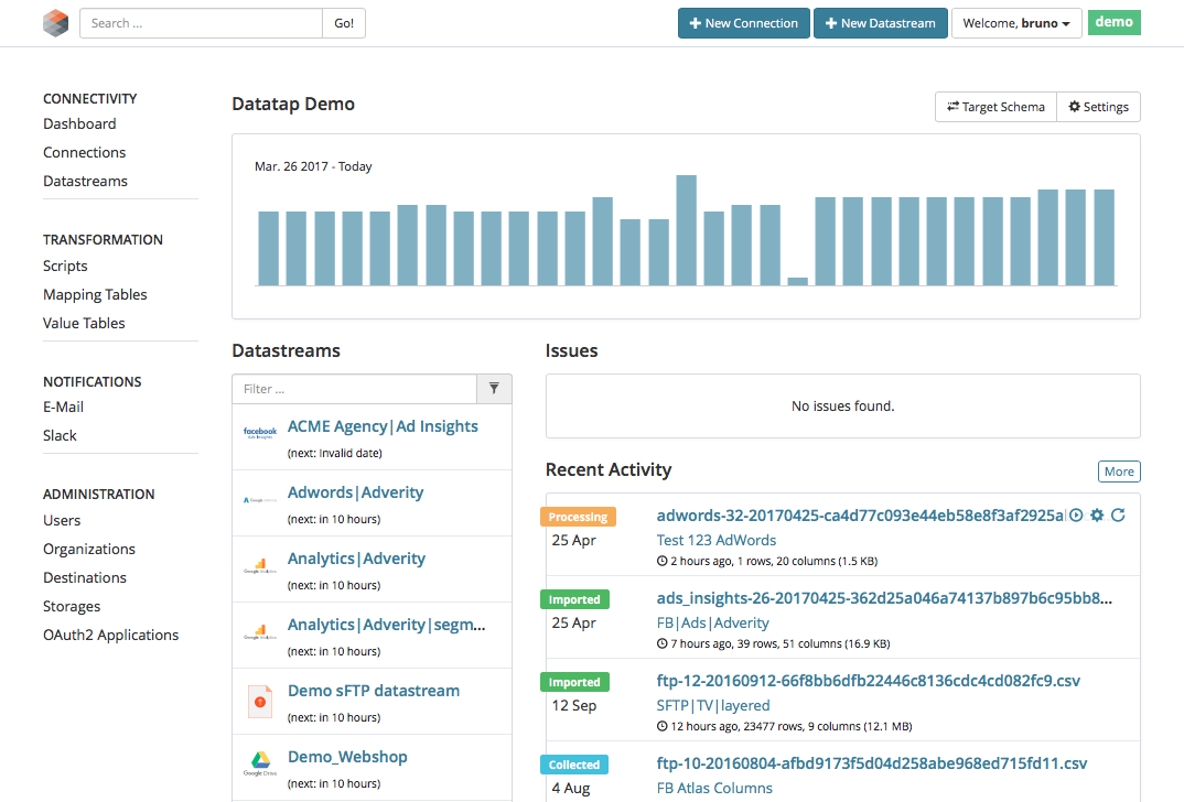 Avis Adverity Datatap : Logiciel de Big Data - appvizer