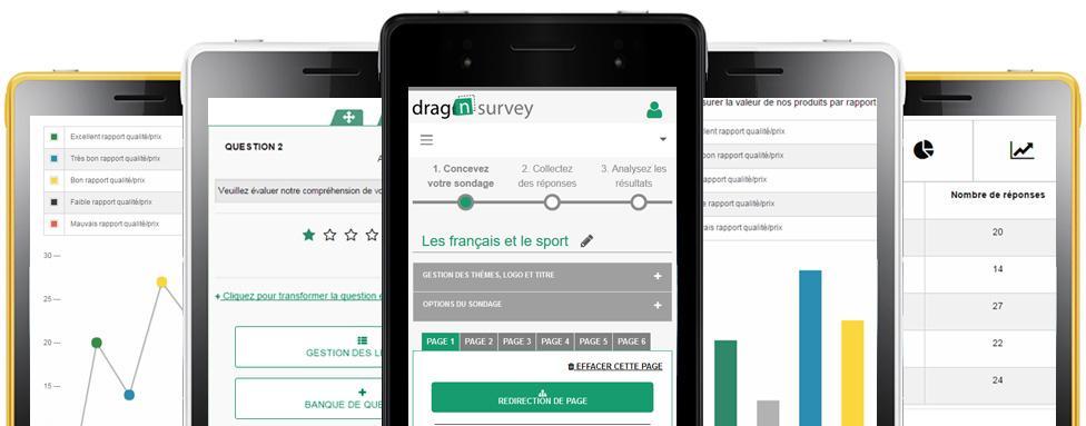 Avis Drag'n Survey : Création dequestionnaires, desondages et de quizz - Appvizer