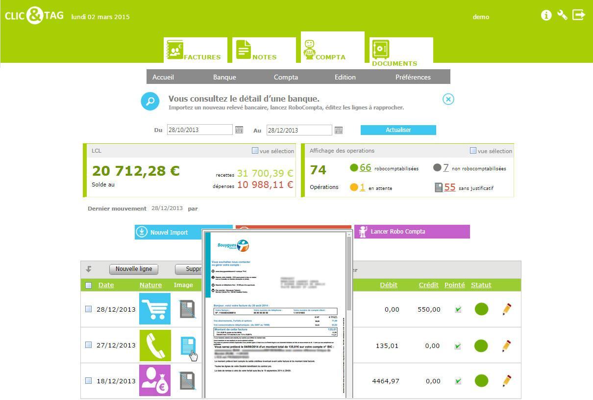 Clic&Tag: Dossiers partagés, Facturation récurrente, Suivi des paiements / règlements