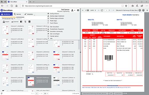 Interface de DocuWare