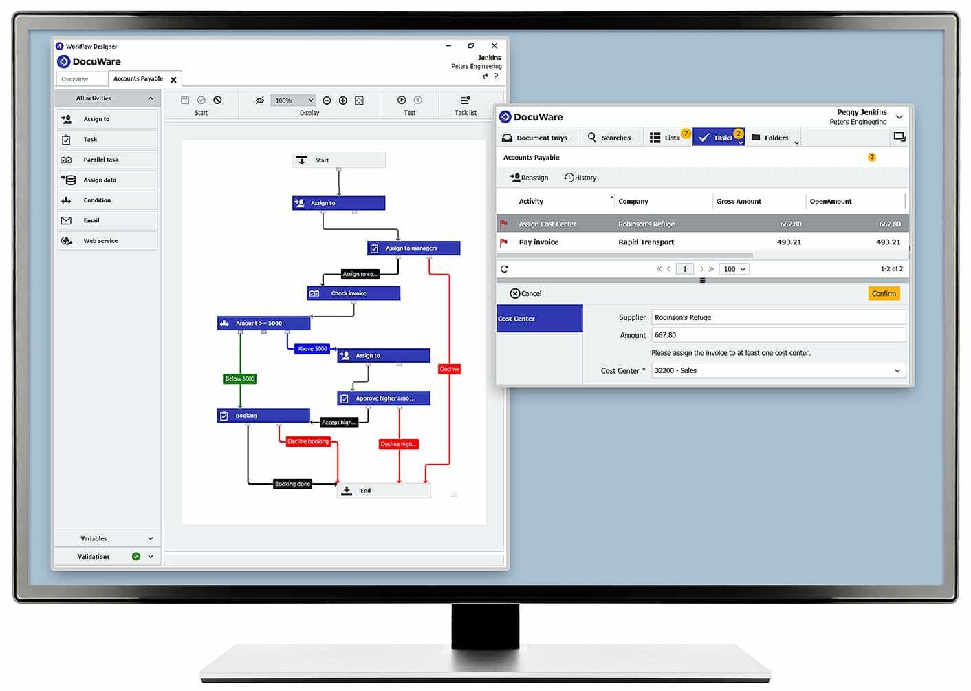 DocuWare : les workflows de validation