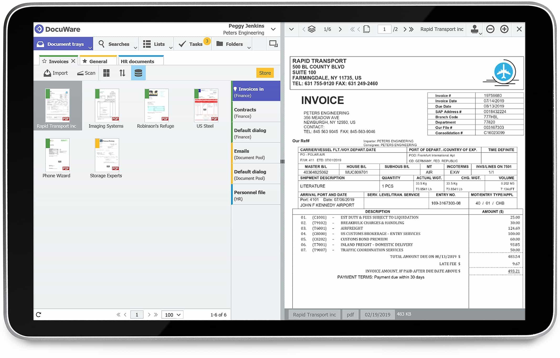 DocuWare : traitement dématérialisé des factures sur Ipad.