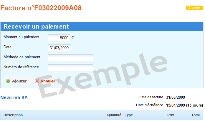 iFacture: Rappel des retards de paiement, Devis, Gestion automatique de la TVA