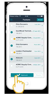 Application mobile de validation des demancdes d'achat et factures