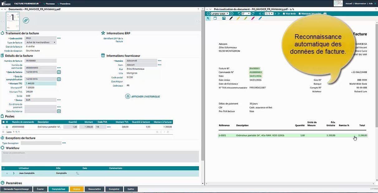 Reconnaissance et extraction automatique des données