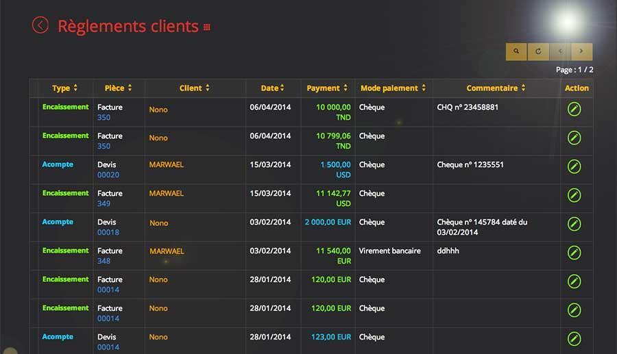 Devis&Factures: Gestion de contacts, Gestion des produits, Factures personnalisées