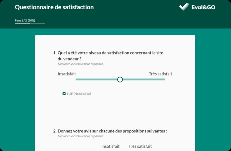 Exemple d'un questionnaire de satisfaction   Eval&GO