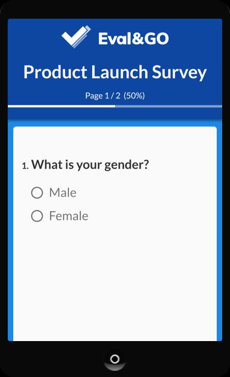 Exemple d'un questionnaire sur mobile   Eval&GO