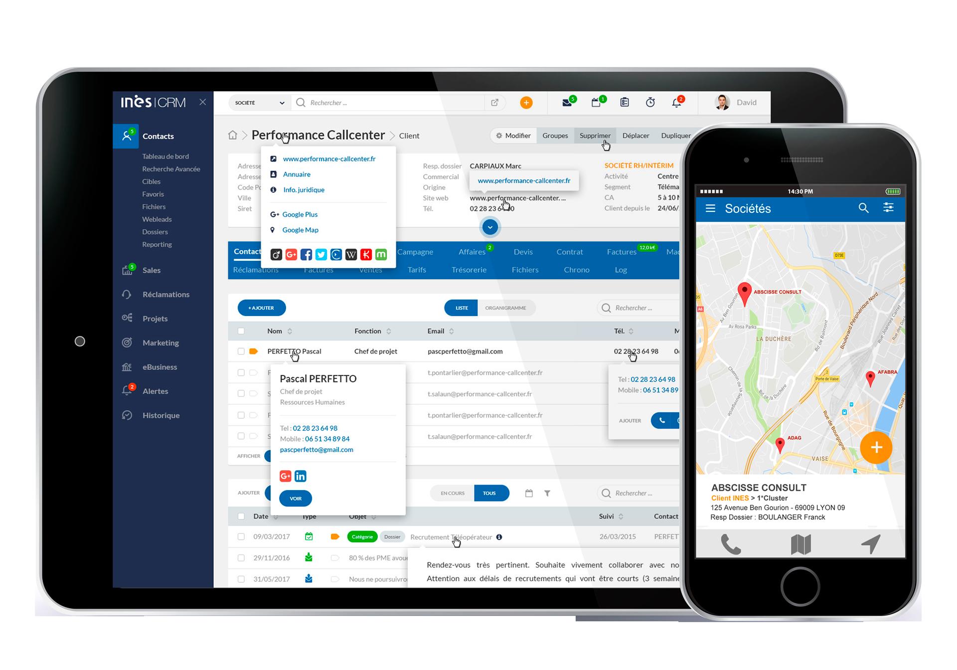 INES.Contact Manager : gestion de sociétés