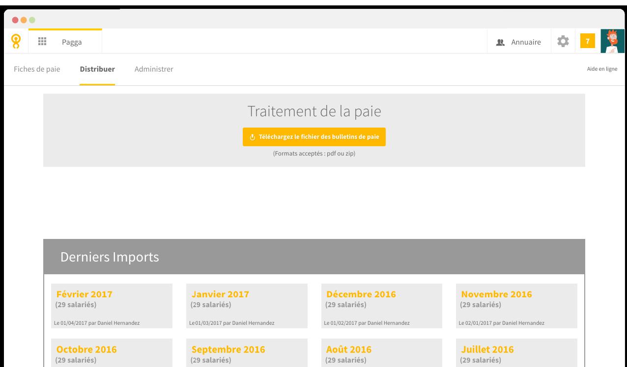Pagga est un logiciel simple à utiliser qui permet de distribuer les fiches de paie aux salariés par email.