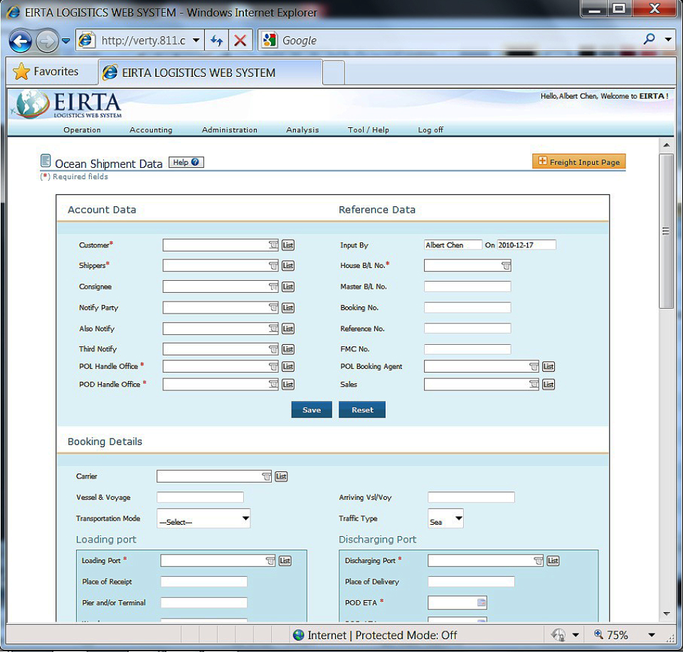 Eirta Logistics Web System-screenshot-2