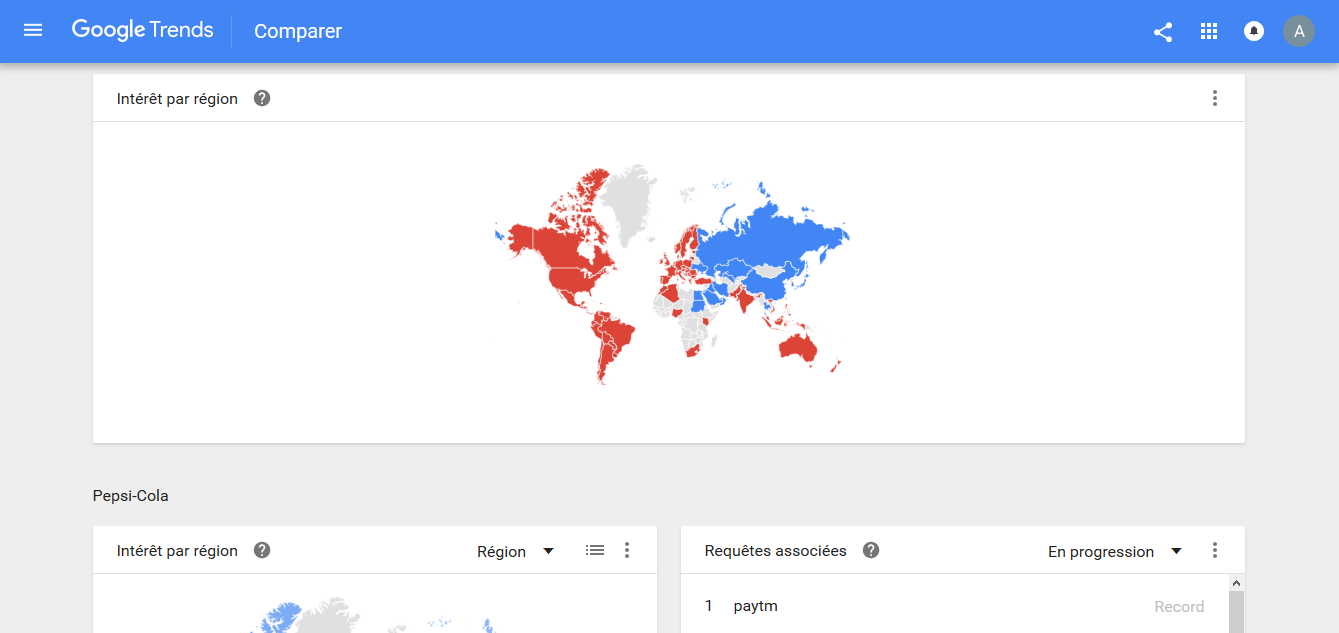 Interface Google Trends 2