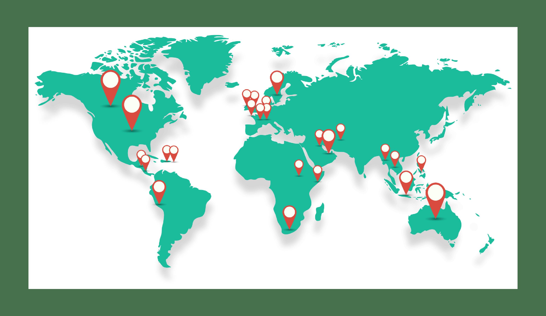 Des clients dans plus de 40 pays