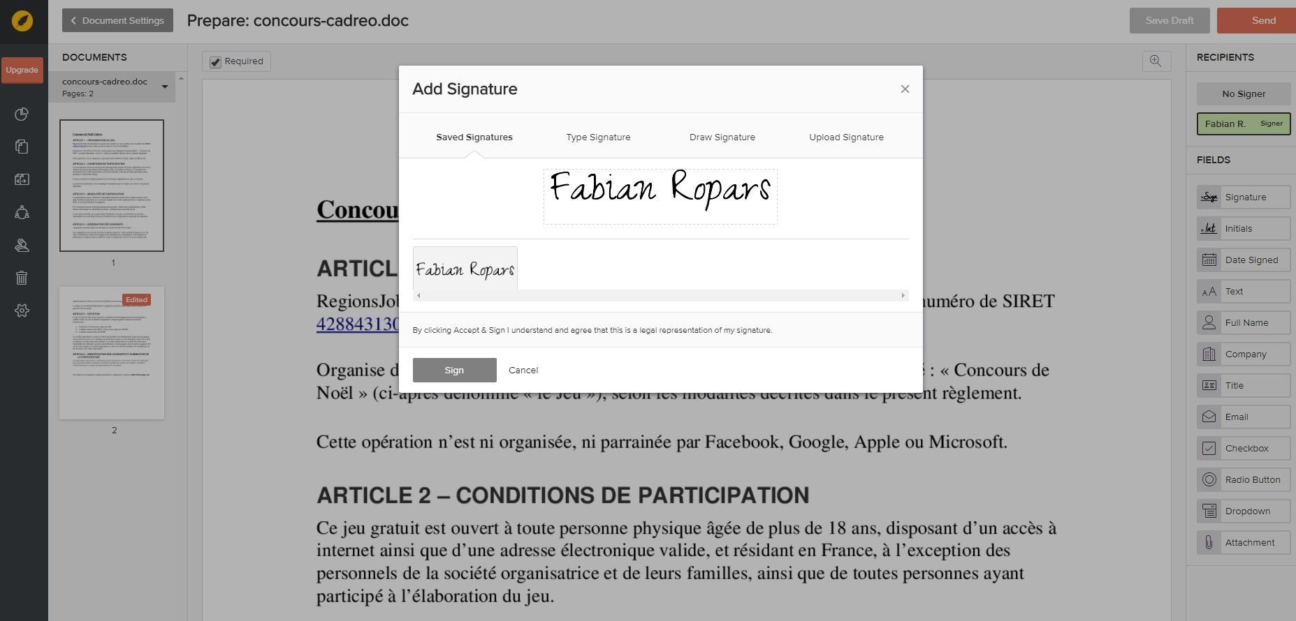 Avis eversign : La solution de gestion de signature électronique - appvizer