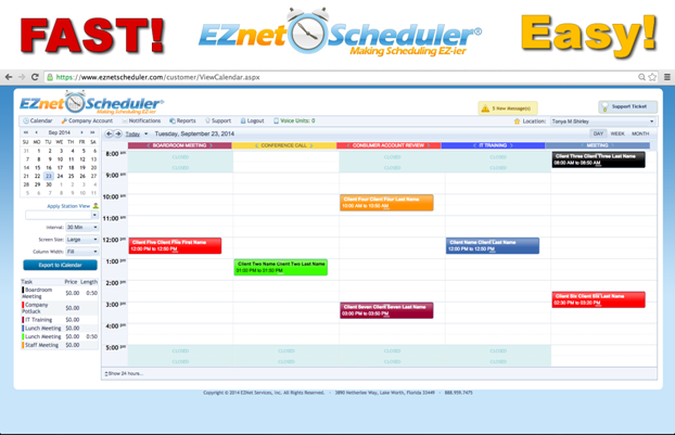 EZnet Scheduler-screenshot-0