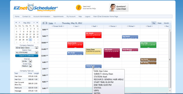EZnet Scheduler-screenshot-2