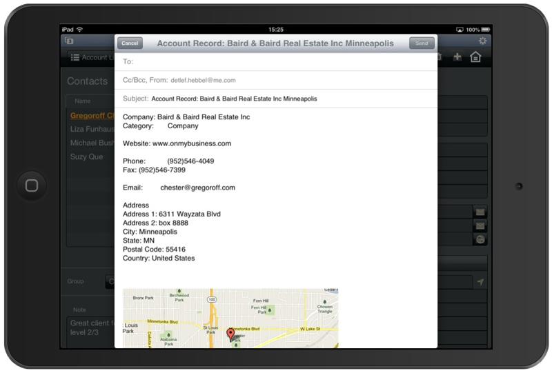 FileMaker Pro App for CRM-screenshot-1
