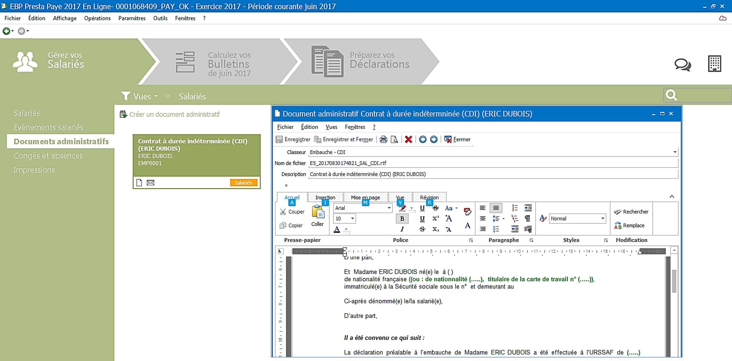 Établissez une véritable gestion administrative :  Répertoriez tous les documents liés aux salariés